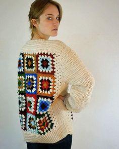 Crochet square sweater crochet pullover square sweater   Etsy