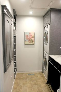 Inspired-rolling-laundry-basket-in-Laundry-Room-Transitional-with-Stacked-Washer-Dryer-next-to-Linoleum-Flooring-alongside-Under-Counter-Washer-Dryer-andBathroom-Laundry-.jpg (660×990)