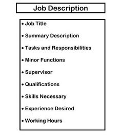 EasyToUse Job Description Template  Resume    Job