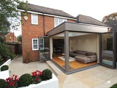 orangery radlett - All About Balcony House Design, Property Design, Home, Small Space Interior Design, House, Open Plan Kitchen Living Room, House Extension Design, New Homes, Orangery