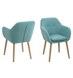 Asseyez-vous confortablement dans ce fauteuil en tissu avec des pieds en bois, le bois vous garantira la stabilité et le confort dont vous cherchez, il orner... Upholstered Furniture, Home Furniture, Furniture Design, Public Seating, Office Seating, Scatter Cushions, Toss Pillows, Single Chair, Kare Design
