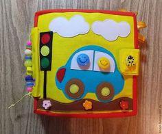 Купить Мягкая книга - разноцветный, развивающая игрушка, книжка, книжка из фетра, книжка из ткани