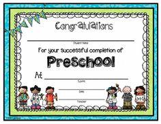 Pre-K Certificates of Completion | Preschool Award Certificate ...