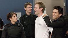 Picture: Missy Peregrym, Eric Johnson and Noam Jenkins in 'Rookie Blue.' Pic is in a photo gallery for 'Rookie Blue' featuring 53 pictures. Blue Tv Show, Rookie Blue, Eric Johnson, Blue Pictures, Celebs, Celebrities, Favorite Tv Shows, Favorite Things, Girl Crushes