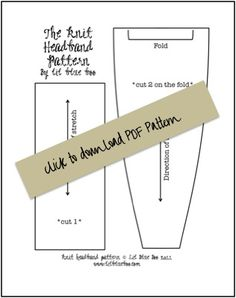 Fabric Headband Sewing Pattern Template You Print Out