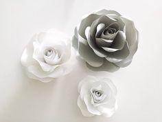 Бумажные цветы. Роза из бумаги. - YouTube