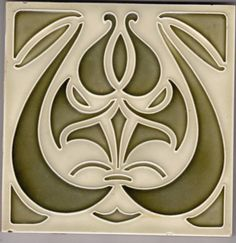 Rare originale Jugendstil Fliese art nouveau tile tegel Deutschland NStG
