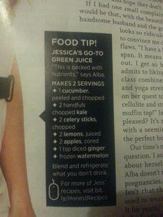Jessica Alba Green Juice