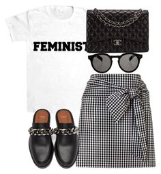 """Untitled #3754"" by theeuropeancloset ❤ liked on Polyvore featuring Givenchy, Chanel and Illesteva"
