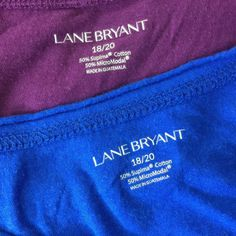Lane Bryant Womens 18/20 Tops Maroon Blue Stretch Knit w Chest Pocket Lot of 2 #LaneBryant #KnitTop #Casual