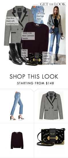 """""""226. Get the Look: Winter Style"""" by auroram ❤ liked on Polyvore featuring Levi's, Sloane and Prada"""
