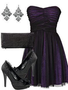 Purple Holiday Party Dress