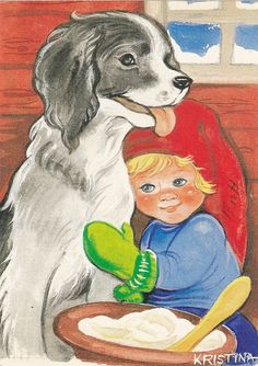 A dog and a gnome child. Sarah Kay, Lucky Charm, Goblin, Gnomes, Disney Characters, Fictional Characters, Poster, Disney Princess, Dogs