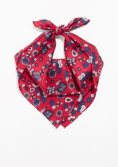 Other Stories | Hearty Print Bandana in Red