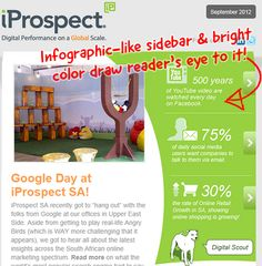 Love the sidebar in this email from iProspect South Africa! #emailmarketing #emaildesign