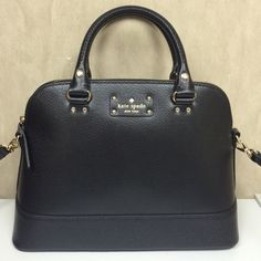 Kate Spade Wellesley Small Rachelle Brand New--no tags.  Authentic and purchased directly from Kate Spade.  Can be carried as a satchel or cross body bag.  Leather with hot pink interior.  So pretty! kate spade Bags Satchels