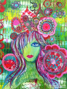 girlie SOUL by Traci Bautista.  Another of my favorite artists who is still creating art today.  Her work is so vibrant and colorful and so inspiring.  This piece is available on Etsy!  http://www.etsy.com/listing/99679878/girlie-soul-original-mixed-media#