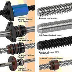 Mechanical Engineering: Lead Screw and Nut Assemblies - CNC - Routeur Cnc, Arduino Cnc, Diy Cnc Router, Cnc Plasma, Cnc Woodworking, Milling Machine, Machine Tools, Router Machine, Homemade Tools