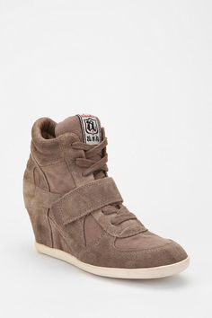 High top sneakers?! I think so. Ash Bowie High-Top Wedge-Sneaker  #UrbanOutfitters