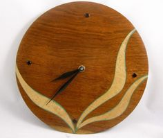 turned wood clock | Wall clock