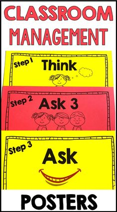 Posters : These management posters are perfect for your classroom. They will help your students become more responsible and autonomous. The posters serve as a reminder that it is not always necessary to ask the teacher for help. There are other options. Primary Classroom, Classroom Ideas, Teaching French, Educational Activities, Teaching Tips, Task Cards, Classroom Management, Teacher Resources, Students