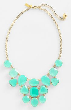 A pretty blue statement necklace for winter.