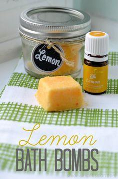 Lemon Bath Bombs with Lemon Essential OIl