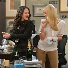 Kat Dennings & Beth Behrs as Max and Caroline ~ 2 Broke Girls
