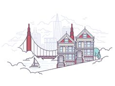 SF by Meg Robichaud #Design Popular #Dribbble #shots