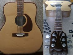 Guitar cake Megan Omans~ do you want to try your hand at this? Fondant Cookies, Cupcakes, Cake Icing, Cupcake Cakes, Cupcake Ideas, Music Themed Cakes, Music Cakes, Cake Decorating Techniques, Cake Decorating Tips