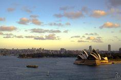 Sunset colours at Sydney Opera House! #sunset #sydneyharbour #sydneyharbourbridge #sydney #sydneyoperahouse #operahouse #australia #austtravellermag #australian #landscape #travelgram #travel #nature #traveldiaries #travelling #sky #clouds #water #sea #boat #ferry #blue #akshaystudios #hello_bluey #wonderful_places #instapic #amazingview #top by akshaystudios http://ift.tt/1NRMbNv