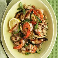 Herbed Quinoa with Shrimp and Zucchini.