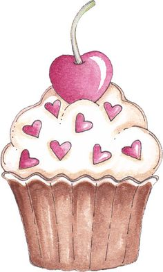 Clipart - Anne Lisbeth Stavland - Álbuns da web do Picasa Cupcake Kunst, Cupcake Art, Art Cupcakes, Cupcake Pictures, Cupcake Images, Cupcake Clipart, Cupcake Drawing, Donut Drawing, Diy And Crafts