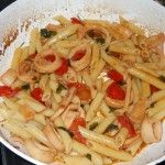penne with squid/penne con calamari