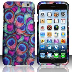 """myLife Blue, Pink, Purple and Green {Beautiful Peacock Iridescent Bird} 2 Piece Snap-On Rubberized Protective Faceplate Case for the NEW iPhone 6 (6G) 6th Generation Phone by Apple, 4.7"""" Screen Version """"All Ports Accessible"""" myLife Brand Products http://www.amazon.com/dp/B00U35DKO0/ref=cm_sw_r_pi_dp_5Dyhvb194JB2F"""