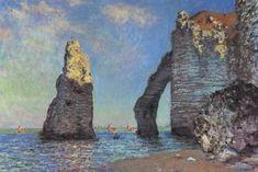 Monet in Paris and beyond. Claude Monet artwork at Etretat France