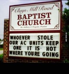 14 of the most passive aggressive church signs you will ever read