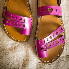 Make your own beautiful leather sandals! These punched leather sandals are one of the projects from my ebook how to make unique leather sandals.