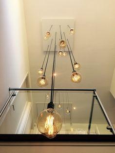 Led Kitchen Light Fixtures, Industrial Light Fixtures, Kitchen Pendant Lighting, Kitchen Pendants, Stairway Lighting, Home Lighting, Modern Hanging Lights, Vide, Decoration