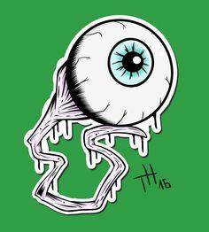 Creepy eyeball illustration digital art