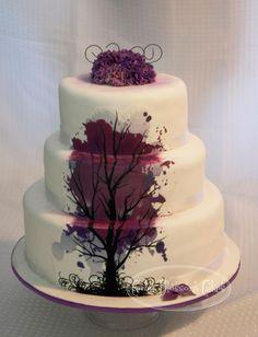 wedding cake with trees | Tree Wedding Cake - Cake Decorating Community - Cakes We Bake