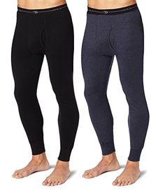 Introducing Duofold KMW2 Mens Mid Weight Wicking Thermal Pant 1 Black  1 Navy M. Great Product and follow us to get more updates!