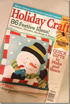 Holiday Crafts Magazine - my project is on page 12!