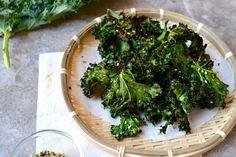 Addictive Kale Chips With Japanese Furikake (Dried Rice Seasoning)