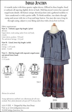 Gathering Jacket – IJ814  sewing pattern from IndygoJunction.com