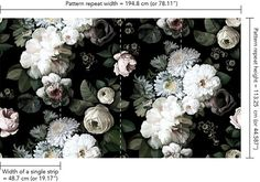 Dark Floral Wallpaper - by Ellie Cashman Design for the Sun Porch ceiling?
