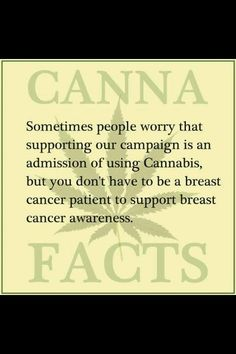 People worry that supporting a Cannabis campaign is an admission of using Cannabis but you don't have to be a breast cancer patient to support breast cancer awareness | #CBD #healthyhemp cbdpl.us