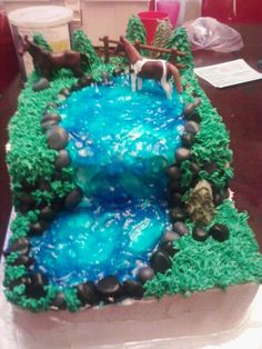 Horse birthday cake.