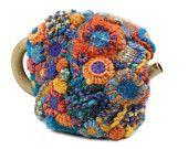 Oh yes. Cushion Cover Home Décor Freeform Crochet OOAK - Metamorphosis. $200.00, via Etsy.