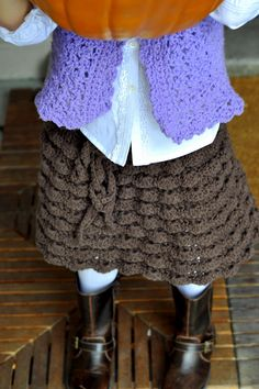 Crochet Ruffle Skirt  This would be so cute for the girls to wear over jeans!!! 😃